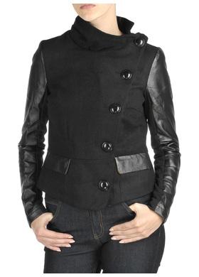 1d0bc3d773d54 Podpatrzone - znalezione: kurtka w stylu militarnym ze skórzanymi ...