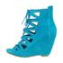 Botki Bronx Shani 83415 turquoise - zamsz