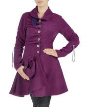 Płaszcz w głębokim kolorze DOTS 82327