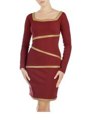 Sukienka ze skórzanym wykończeniem DOTS