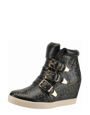 Botki high top z d�etami Bronx