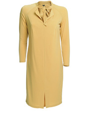 Musztardowa sukienka DOTS