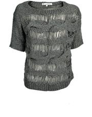 Ażurowy sweter z krótkim rękawkiem Yaya