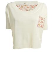 Romantyczny sweterek z szyfonowym wykończeniem Lavand