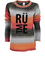 Sweter obmre z nadrukiem Rütme