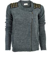 Sweter z ukośnym zamkiem Numph
