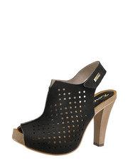 Ażurowe sandały z zamszu Karino