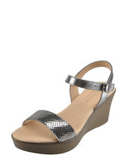 Sandały z metalicznym połyskiem Eva FrutosBotki Buffalo
