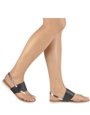 Sandały z metalicznym paskiem Lazamani