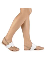 Białe sandały Lazamani