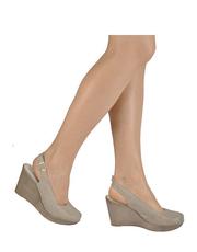 Cieliste sandały na koturnie Karino