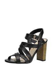 Sandały na drewnianym obcasie Solo Femme 62410-02-A19